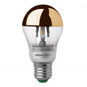 LED à tête miroir gold E27 5W 828 à intensité var.
