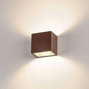 SLV Sitra Cube applique LED d'extérieur, rouille