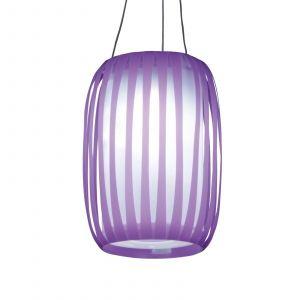 Lampe solaire LED en forme de lampion Lilja mauve