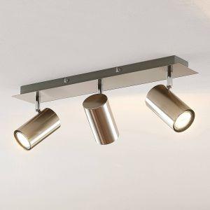 Lindby Joffrey spot pour plafond, 3 lampes, nickel