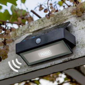 Applique murale solaire Arrow avec LED, détecteur