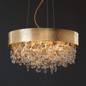Suspension Ola pendentif en verre et feuilles d'or