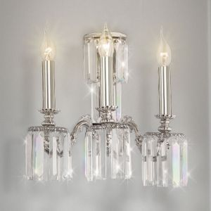 Applique Sevilla avec verre cristal, à 3 lampes