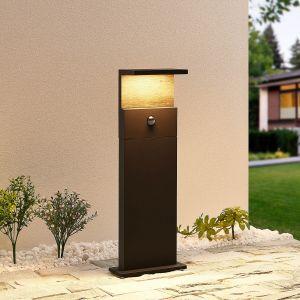 Lucande Lignus potelet LED, détecteur de mouvement