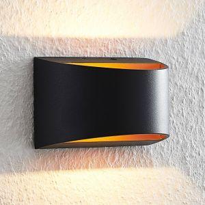 Arcchio Jasina applique LED, semi-ronde, noire
