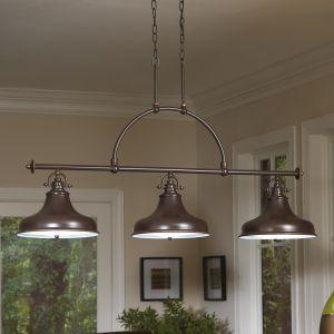 Suspension Emery à 3 lampes au design industriel