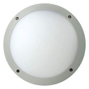 Plafonnier LED Fonda solide, rond, argenté