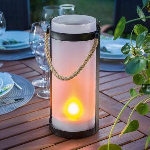 Lampe solaire Jasmin effet flamme