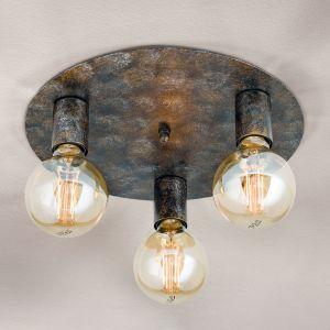 Plafonnier à 3 lampes Rati, dans un style vintage