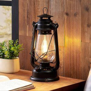 Lindby Raisa Lampe à poser, lanterne, rouille