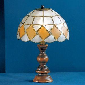 Lampe à poser stylée ASHTON avec abat-jour en nacr