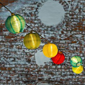 Guirlande extérieur Lampion 40 boules LED colorées