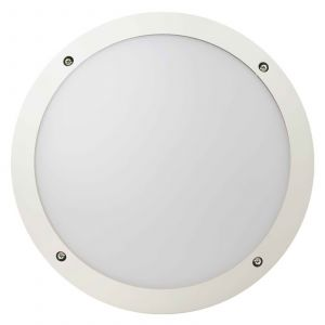 Plafonnier LED Fonda solide, rond, blanc