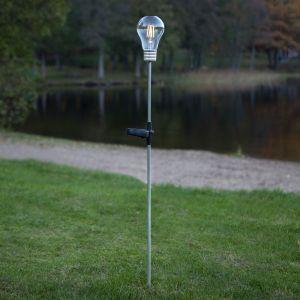 Lampe solaire LED Fille, piquet look incandescence