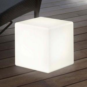 Lampe décorative solaire LED Shining Cube 43 cm