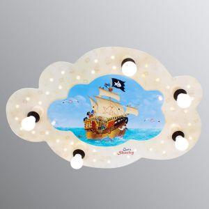 Plafonnier en forme de nuage Capt'n Sharky à LED