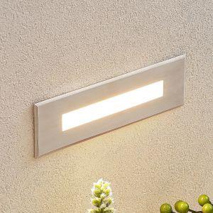 Applique encastrable LED Doga en inox, 19,5cm