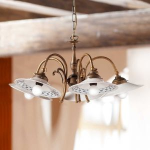 Suspension campagnarde ORLO à 5 lampes