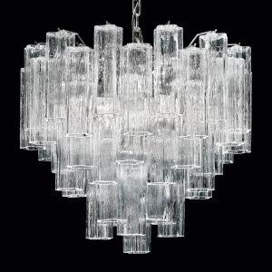 Tronchi - suspension verre transparent de Murano