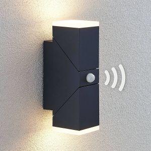 Applique d'extérieur LED Sally, 2 lampes, capteur