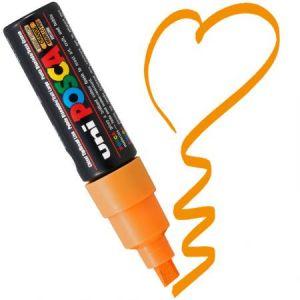 Marqueur Posca pointe biseautée large 8 mm Orange
