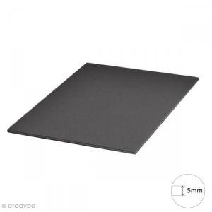Carton plume A4 noir - 5 mm - 1 planche