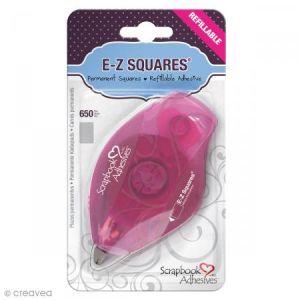Dérouleur adhésif double-face E-Z Squares  - Bande Rectangles - 650 pcs