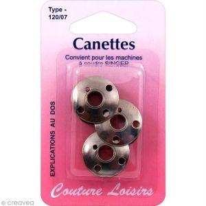 Canette en métal pour machine à coudre Singer - 120/07 - 3 pcs