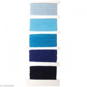 Fil Stitch - knot Bleu pur pour bracelet brésilien - 5 x 10 m