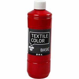 Peinture textile 500 ml - Rouge