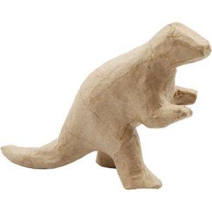 Dinosaure en papier mâché à décorer - T-rex - 12 x 20 cm