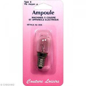 Ampoule machine à coudre - Vis moyenne type E - 15W 240V