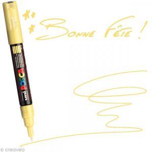Marqueur Posca pointe conique extra fine 1 mm Jaune paille