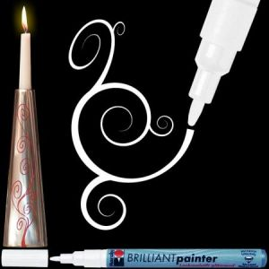Marqueur peinture Brilliant painter 1-2 mm Blanc
