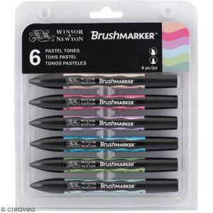 Feutres à alcool BrushMarker - Tons Pastel - 6 pcs
