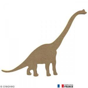 Dinosaure Long cou en bois - 20 x 15 cm