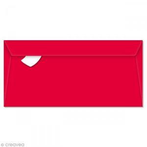 Enveloppe Pollen 110 x 220 mm - Rouge groseille - 5 pcs