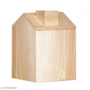 Boîte à mouchoir Maison en bois - 12, 5 x 13 x 18 cm