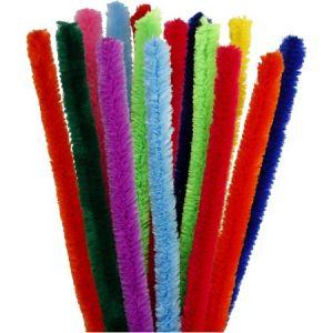 Assortiment de fil chenille multicolore - 15 mm x 30 cm - 15 pcs