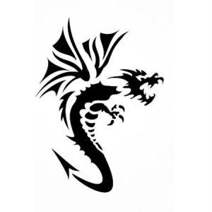 Pochoir adhésif pour customisation Dragon 7 x 10 cm