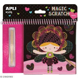 Livre cartes à gratter Magic Scratch APLI Kids - Fées - 8 pcs