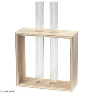 Porte-éprouvettes en bois - 10,5 x 10 x 4 cm