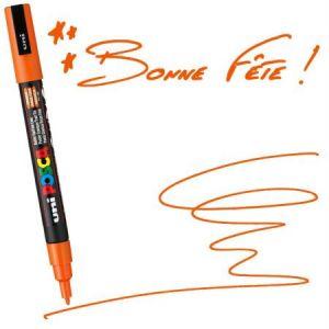 Marqueur Posca pointe conique fine 1,5 mm Orange Foncé