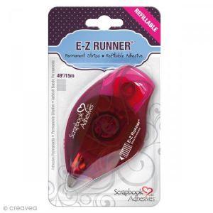 Dérouleur adhésif double-face E-Z Runner Permanent - Bande Rayures - 15 m