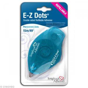 Dérouleur adhésif permanent E-Z Dots points - rechargeable - 15 m