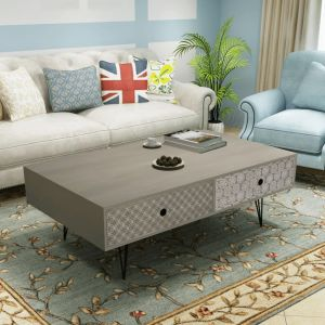 vidaXL Table basse 100 x 60 x 35 cm gris