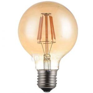 5W E26/E27 Ampoules à Filament LED G95 6 LED Haute Puissance 500-550 lm Blanc Chaud 2700 K Décorative AC 100-240 V