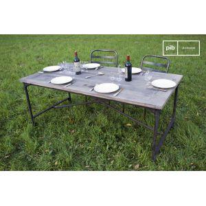 Table vintage de tapissier en orme ancien