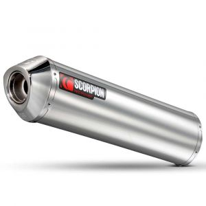 Scorpion Factory Round Slip On Polished Stainless Gsf Bandit 650 07-11 One Size Silver - Silver - Taille One Size