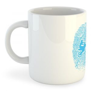 Tasses Kruskis Tasse Off Road Fingerprint - White - Taille 325 ml (11 oz)